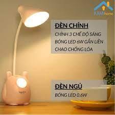 Đèn học để bàn chống lóa chống cận thị cho trẻ em sạc led tích điện kiêm Đèn  ngủ và Đọc sách mã TGX792.36019 chính hãng 109,000đ