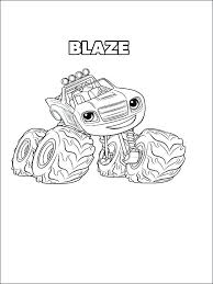 Minecraft Blaze Colouring Pages Blaze And The Monster Machines