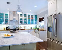 Trendy Kitchen Photo In Austin With Subway Tile Backsplash, A Farmhouse  Sink, Wood Countertops