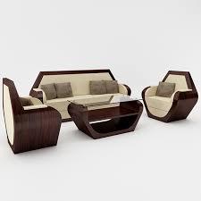 Hexagon Sofa Set by DesignCrabs 3DOcean