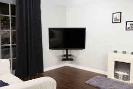 Corner Tv Bracket With Shelves Terrific Corner Wall Mount Bracket For Flat Screen Tv Photo 2