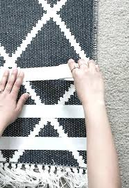 how to keep area rug flat on carpet designs