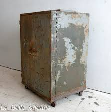 Old Metal Cabinets Best Vtg Industrial Two Door Metal Cabinet Must See Decorao