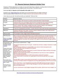 Examples Of A Resume Summary Resume Summary Statement Examples 60 Resume Cover Letter 23