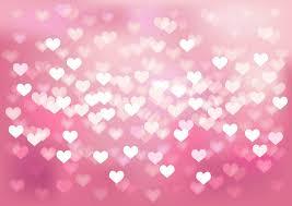 Download Vector Glowing Bokeh Hearts Wedding Background