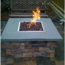 36 inch natural gas fire pit table by oec cultured stone base bluestone top ultimate patio