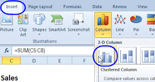 How To Insert A Bar Chart In Excel Excel Line Column Chart With 2 Axes