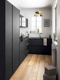 Modèles De Cuisines Lovely Spaces Black Kitchen Cabinets Small