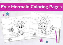 Free Mermaid Coloring Pages Boy Girl Mermaid Coloring Pages