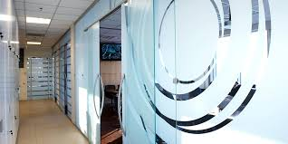 frosted glass office doors