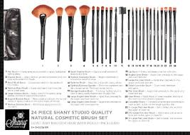 mac amazon shany studio quality natural cosmetic brush set with leather pouch 24 count shany beauty 32