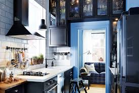 ikea furniture for small spaces. Small Spaces · Kitchen. Narrow Kitchen With IKEA Cabinets Built All Around The Doorframe. Ikea Furniture For F
