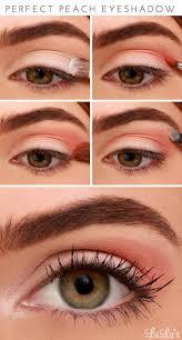 perfect peach eyeshadow peach makeup tutorial you should recreate now
