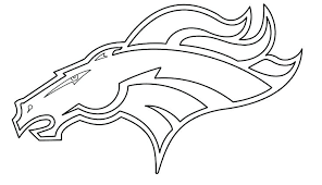 Lovely Denver Broncos Coloring Book For Broncos Coloring Page