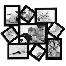 multiple picture frames wood. 9 Opening Collage Picture Frame - Adeco PF0009 Multiple Frames Wood P