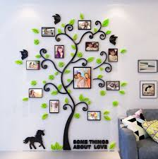 creative 3d arcylic diy family photo frame tree wall sticker home decor living room bedroom art picture frame wall decals poster es