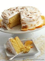 Coconut Meyer Lemon Meringue Cake fortably Domestic
