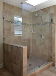 do we put a half wall showerman frameless shower door frameless glass shower walls and doors