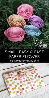 Pattern For Paper Flower Mini Paper Rose Living And Crafting
