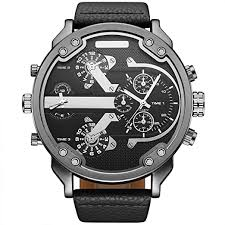 OULM Brand <b>Military</b> Watch <b>Men</b> Quartz Analog Leather <b>Clock Men</b> ...