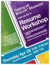 Resume Workshop Flyer Template Neurobiologist Sample Job Description N Cv Templates Cheap Essay 24