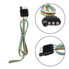 trailer light wiring harness extension 4 pin plug 18 awg flat wire how to wire trailer lights to truck at Trailer Light Receptacle Wiring Harness