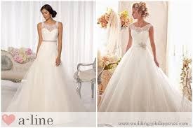 wedding philippines guide to wedding dress terminology a line skirt