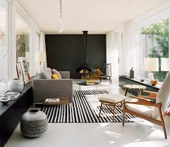 contemporary furniture for living room. This Modern Living Room Features A Hanging Black Fireplace, Tile Accent Wall, Contemporary Furniture For