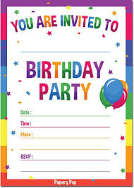 Amazon Birthday Invitations With Envelopes 40 Pack Kids Beauteous Birthday Invitation Pictures