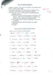 math skills worksheets balancing chemical equations worksheet