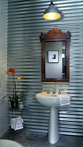 corrugated metal bathroom walls corrugated metal wall metal wall decor for outdoors nursery transitional with white