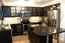 kitchen ideas dark cabinets. Fine Cabinets Kitchen Tile Backsplash Ideas With Dark Cabinets For  And Light   In Kitchen Ideas Dark Cabinets