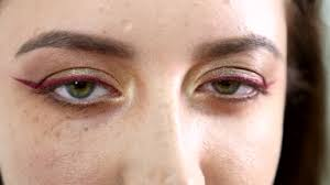 beauty woman eye makeup closeup beautiful holiday make up for brown eyes false