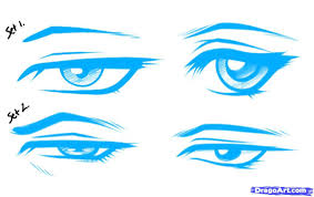 how to draw male anime eyes.  Draw How To Draw Anime Male Eyes Step By Step Anime To Eyes M