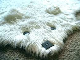 bear skin rug without head faux with photo 3 for nursery