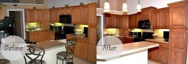 reface kitchen cabinets before after refacing kitchen cabinets