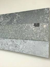 grey sparkle wall canvas