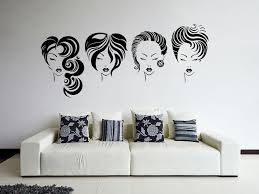 plush design ideas salon wall art popular hair vinyl decal hot y girls hairstyle beauty mural sticker room decoration in stickers from