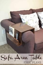 Sofa Table Diy Remodelaholic Diy Sofa Arm Table