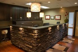reception counter natural stone reception desk hotel