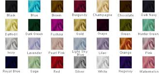 Prom Dress Color Chart Color Chart Promlily Online