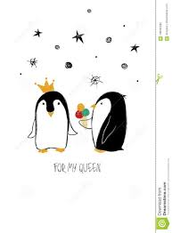 cute penguins in love. Modren Love Download Love Card With Couple Of Penguins Stock Vector  Illustration Of  Anniversary Feeling On Cute Penguins In C