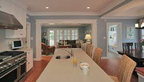 Archway trim ideas kitchen traditional with recessed lighting wood flooring  eat-in kitchen