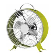lime green funky retro desk fan
