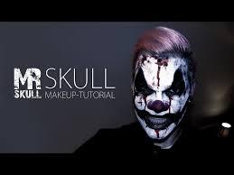 horror clown makeup tutorial