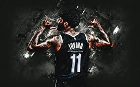 Connect with them on dribbble; Download Wallpapers Kyrie Irving Nba Brooklyn Nets American Basketball Player Black Stone Background Basketball For Desktop Free Pictures For Desktop Free