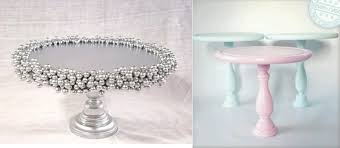 diy cake stand ideas from Delightfully Lovely on Etsy (left) and from  Pinterest(