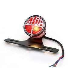 Stop Light Lamp 12v Motorcycle Red Rear Tail Brake Stop Light Lamp For Cafe Racer Chopper Bobber