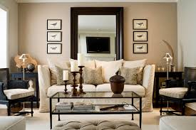 leaning mirror behind sofa toronto interior design group