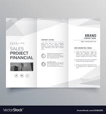 Simple Trifold Brochure Template Design With